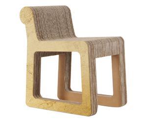 Silla hecha a mano en cartón Knob – dorado
