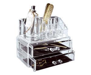 Organizador para maquillaje con 2 cajones