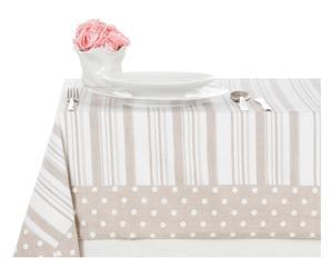 Mantel en algodón Stripe&Dots, beige - 140x180 cm