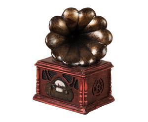 Gramófono decorativo en resina