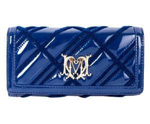 Cartera acolchada Vernice, azul - 19x10 cm