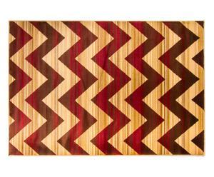 Alfombra de polipropileno Vintage -ocre, marrón y rojo - 80x150cm