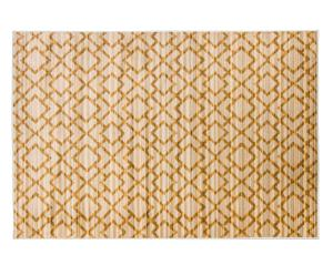 Alfombra de polipropileno Detail, mostaza - 145x190cm