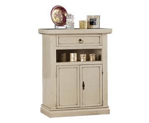 Armario en madera con 2 puertas y 1 cajón Carole - crema