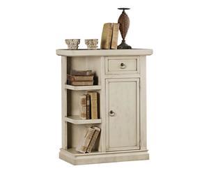Armario en madera con 1 puerta y 1 cajón Carole - crema