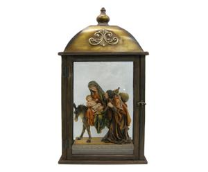 Composizione Nativita\' in resina Holy Night - 35x30x10 cm