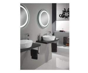 Set di 1 lavabo da parete con accessori wenge\' - 5 pz.