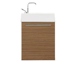 Mueble de baño en madera de teca con 1 puerta y lavabo