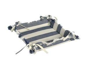Servilletero cuadrado Windy, blanco y azul - 30x30 cm