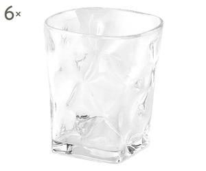 Set de 6 vasos de plástico - transparente