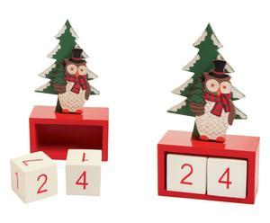 Set de 2 calendarios de madera Noe