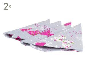 Set de 8 servilletas Flower butterfly - fucsia