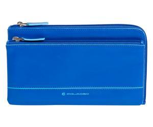 Portadocumentos 3 en 1, azul - 23x12x3 cm