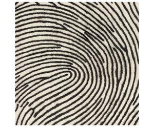Alfombra FINGERPRINT – Blanco y negro
