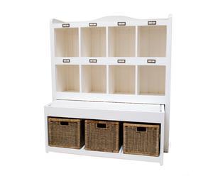 Mueble con 8 compartimentos y 3 cestas