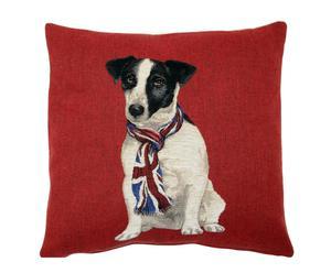 Cojín Perro con corbata, rojo – 50x50