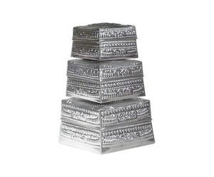 Set de 3 cestas metálicas