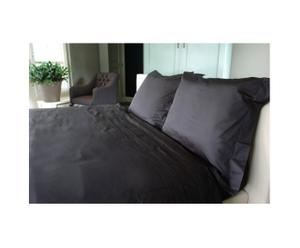 Set de cama Pleated, negro – 240x220