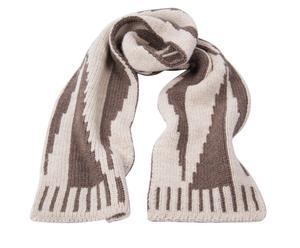 Bufanda en lana, topo y blanco - L 180 cm