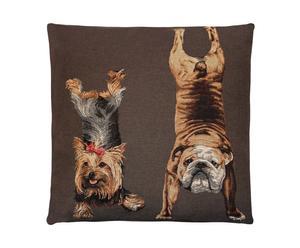 Cojín Yoga Dogs, marrón - 45x45 II