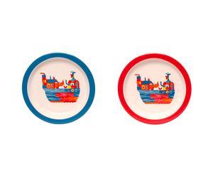 Set de 2 platos Arca de Noé