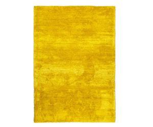 Alfombra tejida a mano en poliéster y algodón Fresh Lemon, amarillo - 140x200
