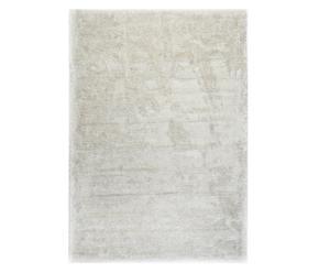 Alfombra tejida a mano en poliéster y algodón Snow White, blanco - 160x230