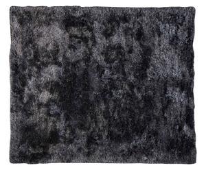 Alfombra ultrasuave tejida a mano, negro y gris – 150x150