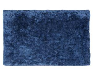 Alfombra ultrasuave tejida a mano, azul – 60x165