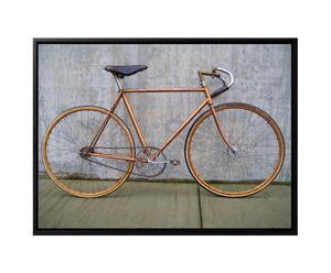 Canvas print in baklijst Amsterdam Hipster Bike, multicolor, 44 x 64 cm