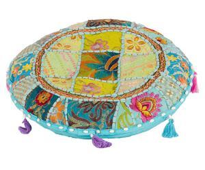 Cojín Hippie, multicolor- Ø40 cm