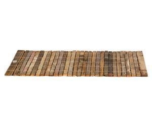 Esterilla de madera reciclada Flori, marrón - 60x90 cm
