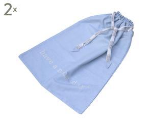 Set de 2 bolsas de algodón Mrs B - azul claro