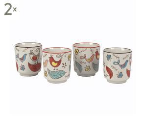 Set de 8 vasos Birds