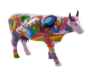 Figura decorativa Mucca Hippy
