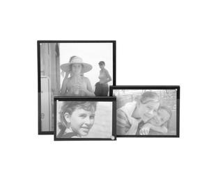 Juego de 3 marcos de fotos – negro