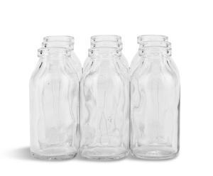 Set de 9 floreros de vidrio