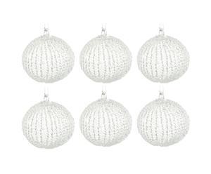 Set de 6 bolas decorativas – cristal
