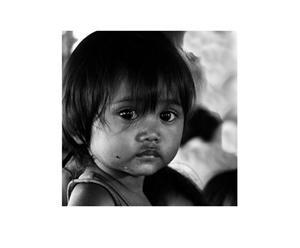 Fotografía sobre lienzo Niña de Camboya
