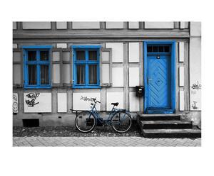Fotografía sobre lienzo Ámsterdam – Bici azul