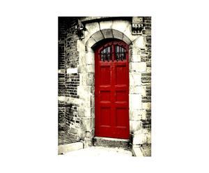 Fotografía sobre lienzo Ámsterdam – Puerta roja