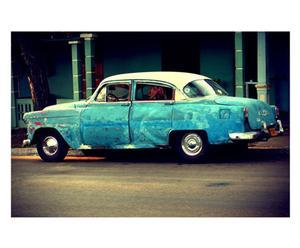 Fotografía sobre lienzo Coche Cuba