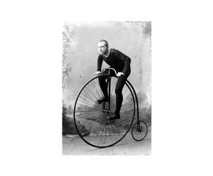 Fotografía sobre lienzo Ciclista – blanco y negro