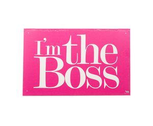 Póster Yo soy el jefe – rosa y blanco