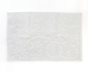 Alfombra de baño Floral – Blanco