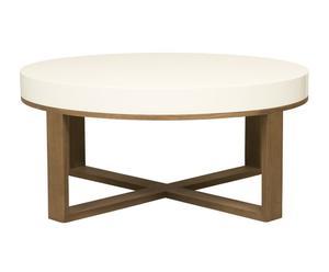 Mesa de centro Akai, madera - Blanco
