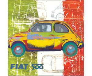 Impresión en madera Fiat 500, de Valerio Salvini