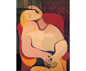 Impresión en madera El sueño, de Pablo Picasso
