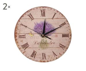 Set de 2 relojes de pared Provence