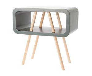Mesa auxiliar de madera Graphite – gris oscuro